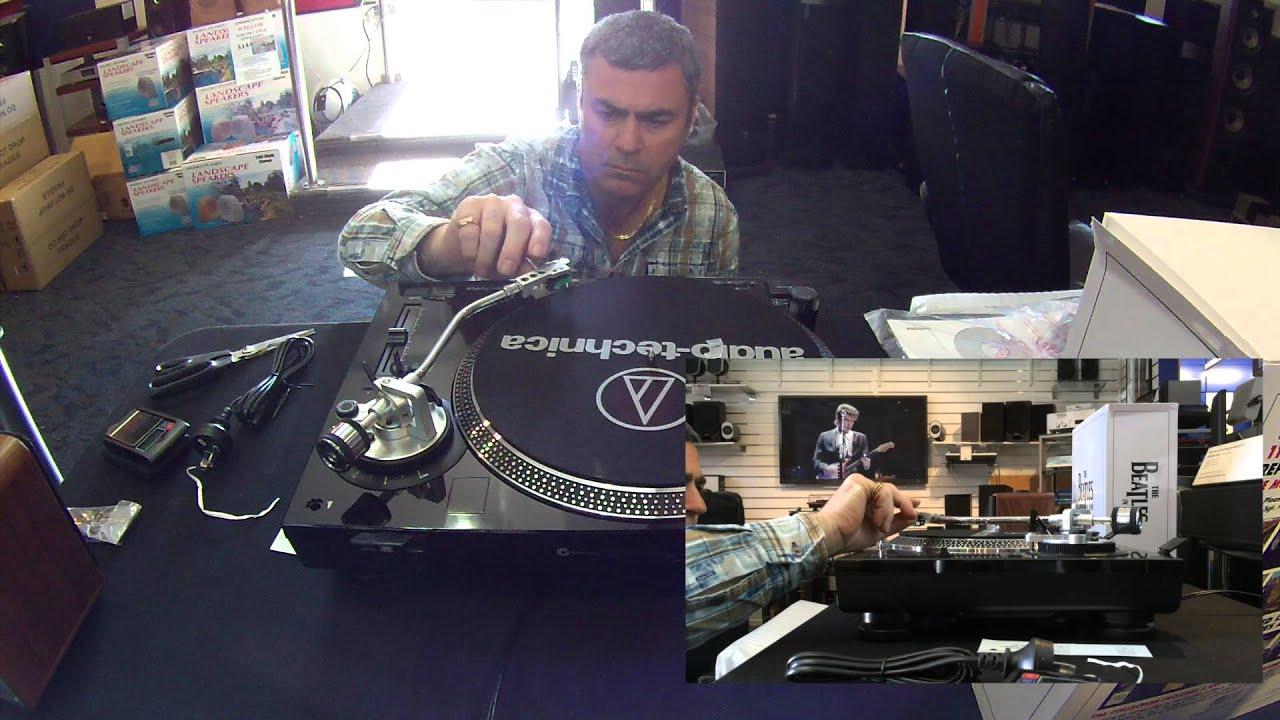 Audio Technica AT-LP120-USB Vinyl DJ Turntable Unboxing/First .