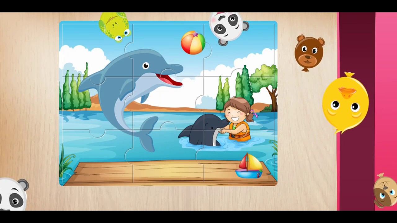 Learning Animals Puzzle Game for Kids  (Part 1)