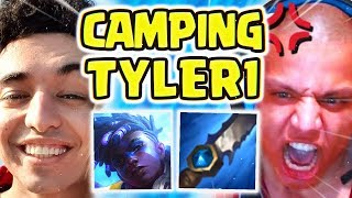 NIGHTBLUE3 CAMPING TYLER1 (HES TILTED) | EKKO JUNGLE IS ACTUALLY TOP TIER!!