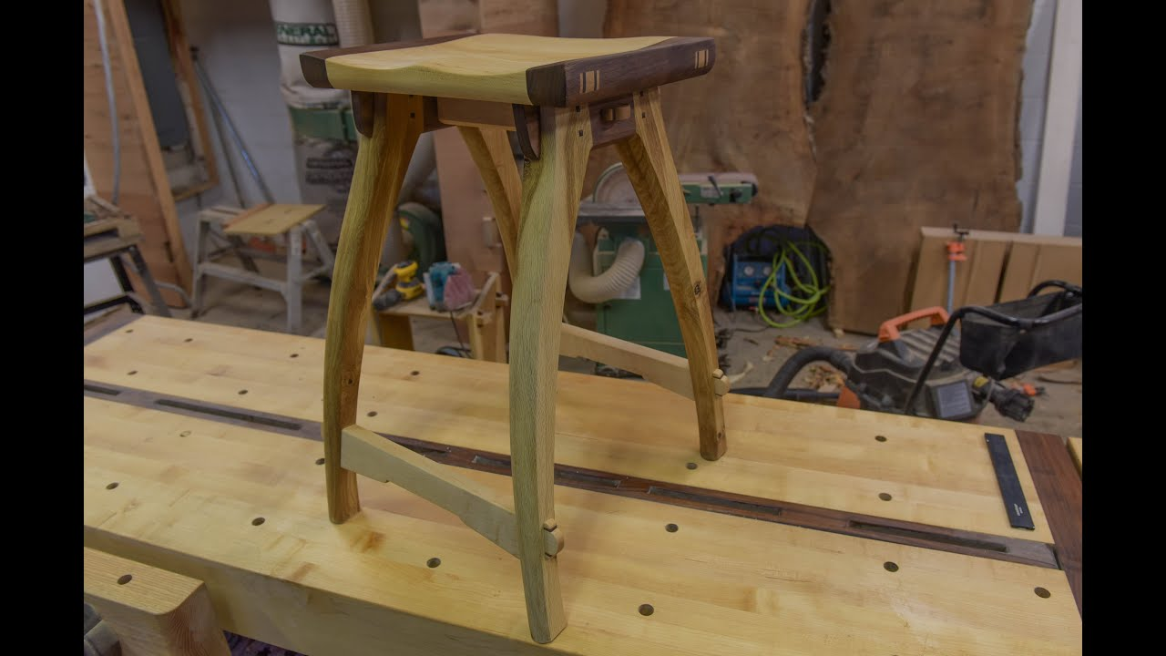 Woodworking Shop Stool With Old School Joinery & Woodworking Shop Stool With Old School Joinery - YouTube islam-shia.org