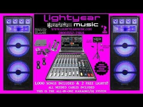 Karaoke System With LED Karaoke Speakers Karaoke Mixer Wireless Karaoke Microphones Karaoke Music