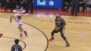 DeMarcus Cousins Got Valanciunas Leaning! Pelicans vs Raptors 2017-18 Season