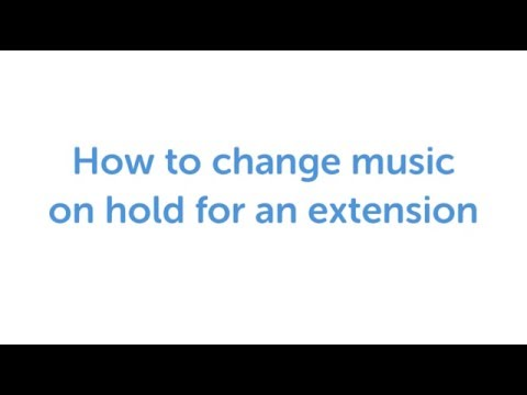 VoipNow: How to change music on hold for an extension