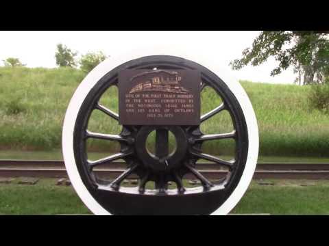 Jesse James first train robbery site, Adair, Iowa