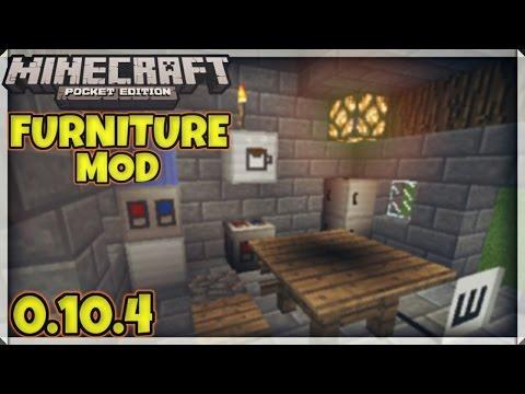 Danxupe Furniture Mod для Minecraft Pocket Edition 0.15