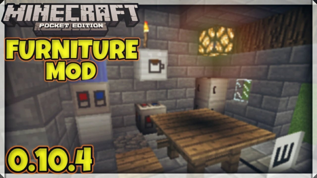 Furniture Mod Minecraft Pe 0 10 5 Download Youtube