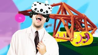 Virtual Reality Vehicle Building and Puzzle Solving! - Fantastic Contraption Gameplay - VR HTC Vive