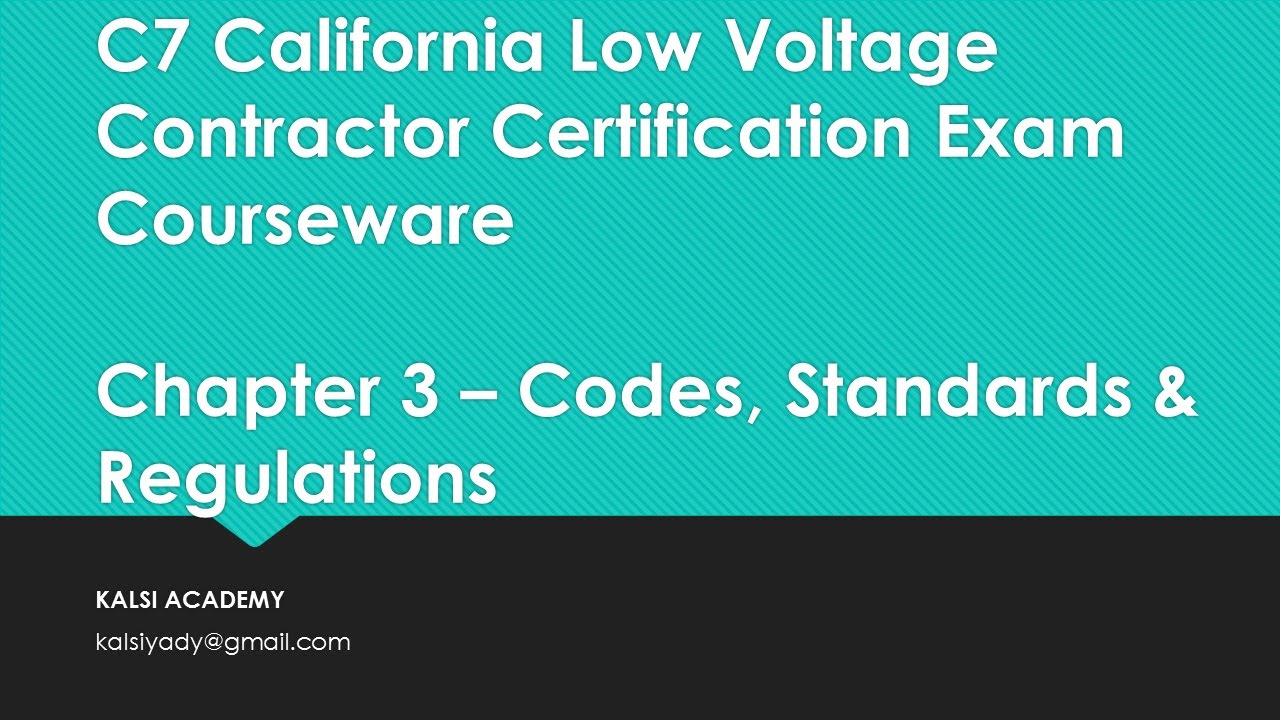 California c7 low voltage contractor exam chapter 3 complete youtube california c7 low voltage contractor exam chapter 3 complete 1betcityfo Gallery