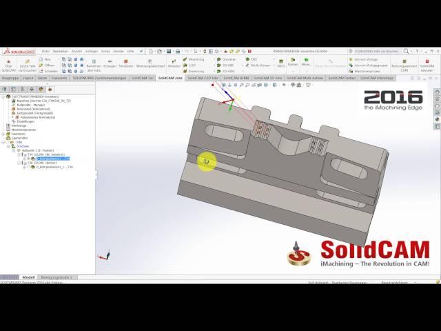 SolidCAM 2016 - Versetzten um Nullpunkt und Benutzerdefinierte Achse