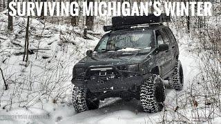 Surviving Winter Off-Roading & Camṗing in Michigan