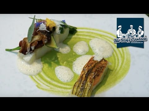 Turbot in brown butter with sea herbs and baby courgettes from Michelin-starred Simpsons