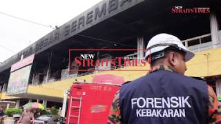 Business as usual at the fire-razed Seremban main market