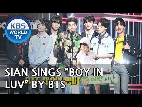 """SIAN sings """"Boy in Luv"""" by BTS [The Return of Superman/2018.08.05]"""