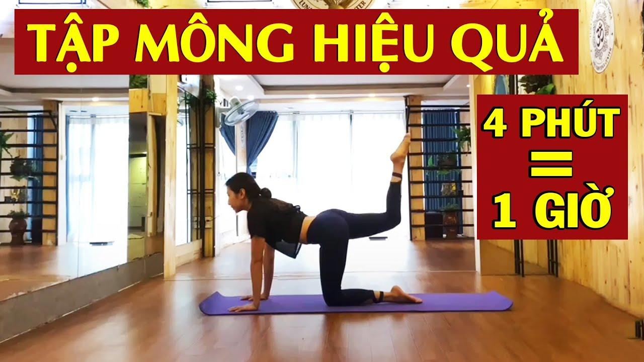Tập Mông To Cho Nữ Tại Nhà CỰC ĐẸP Hiệu Quả 100% Chỉ Với 4 Phút Mỗi Ngày | Yoga Luna Thai