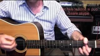 Lezione di chitarra Lucio Battisti Acqua azzurra acqua chiara  www.chitarrasubito.it