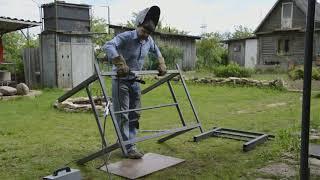 видео Садовые столы и скамейки своими руками: варианты