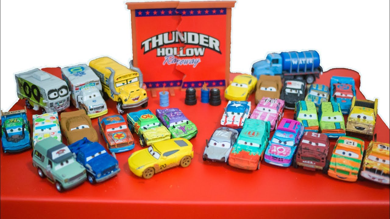 Cars 3 complete thunder hollow diecast demo derby pushover high impact blindspot hit run youtube - Coloriage cars 3 thunder hollow ...