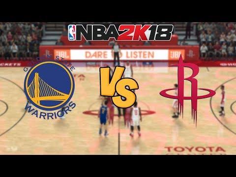 NBA 2K18 - Golden State Warriors vs. Houston Rockets - Full Gameplay