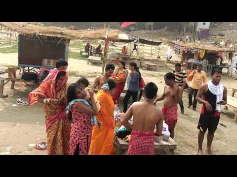 Vindhyachal Ganga Ghat  by Rina Devi in November 2016