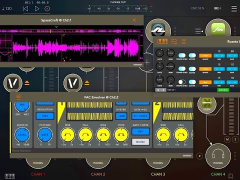 SpaceCraft - FAC Envolver - Rozeta LFO and More - FULL Set-Up Tutorial for the iPad