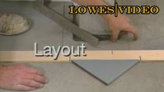 How To Tile a Floor: Lay Out Floor Tiles