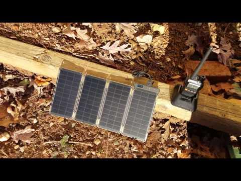 YOLK Solar Paper charging HAM radio