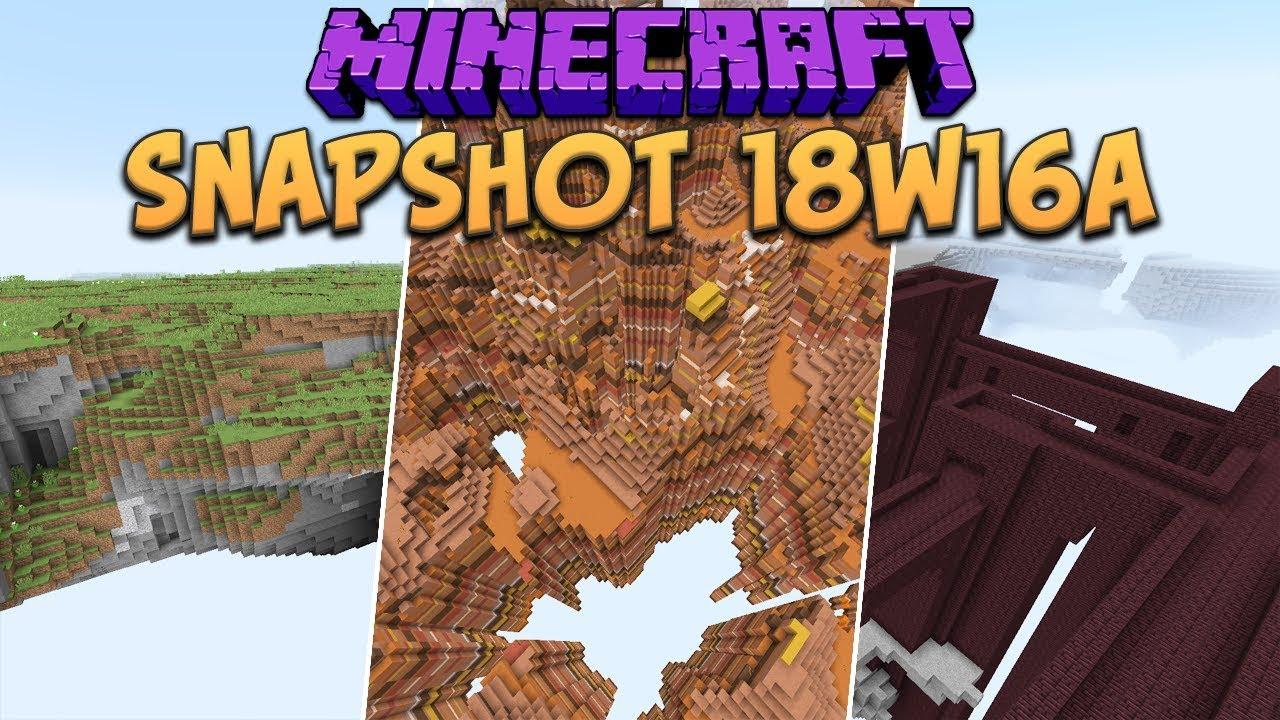 Minecraft 1 13 Snapshot 18w16a New Custom World Generation