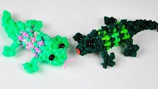 Ящерица | Фигурки из резинок | Как сплести Ящерицу крючком