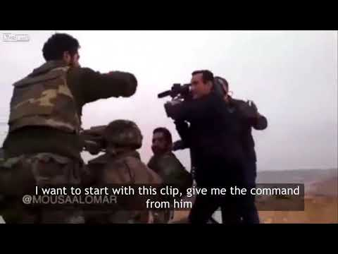 HOT NEW! A Hezbollah terrorist propaganda team pretend to be Syrian soldiers