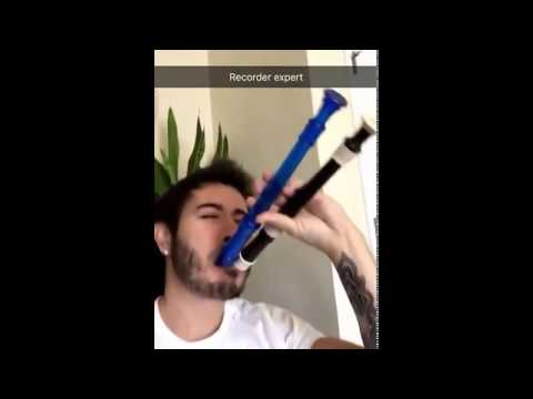 Critikal Playing the Recorder on Snapchat