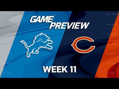 Detroit Lions vs. Chicago Bears   NFL Week 11 Game Preview