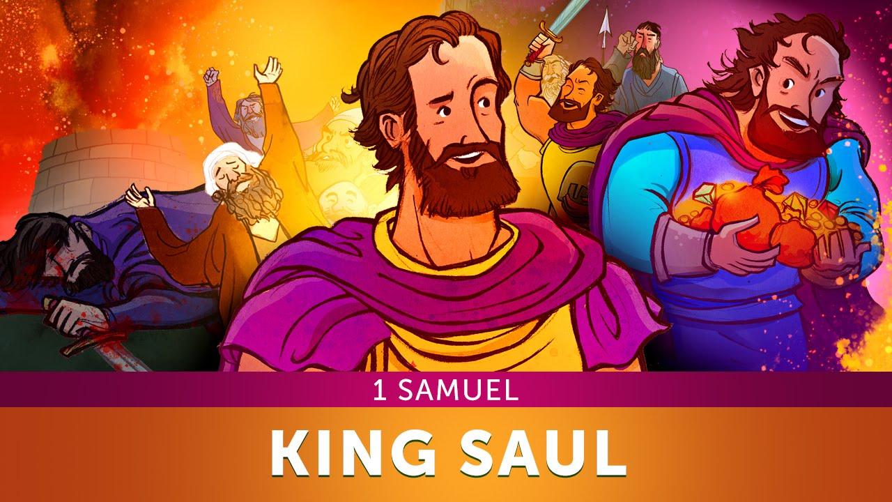 sunday lesson for children king saul 1 samuel bible
