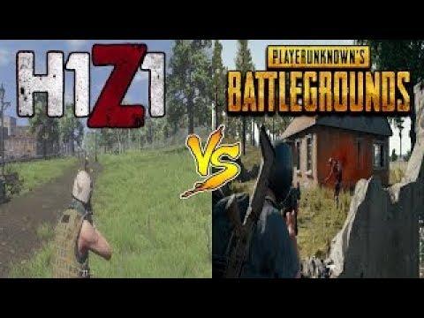 playerunknown battlegrounds vs h1z1