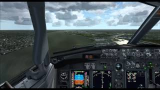 FSX | PMDG 737 NGX | Approach and landing at Philadelphia International Airport