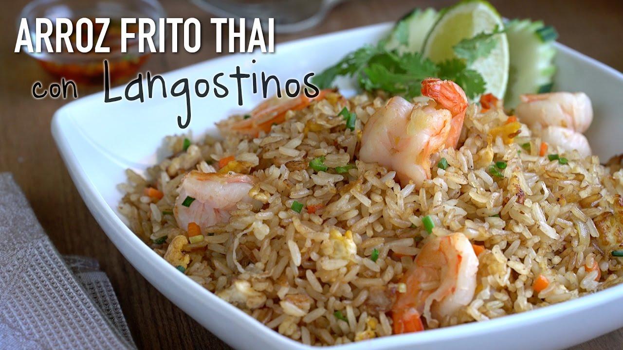 Arroz Frito Con Langostinos Estilo Thai Thai Shrimp Fried Rice Recipe ข าวผ ดก ง Youtube