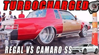 TUBBED TURBO REGAL TAKES DOWN A NITROUS CAMARO SS - Montgomery, AL