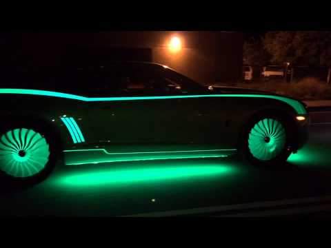 Red Glow In The Dark Car Paint