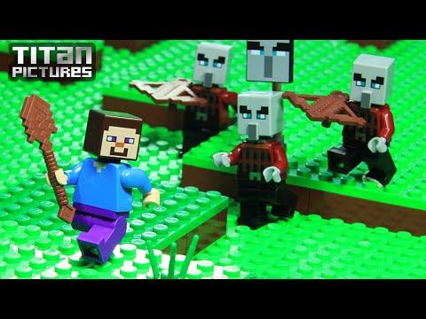 Lego Minecraft - Clan Wars | Villager Vs Pillager | Episode 1 - Welcome Back Player