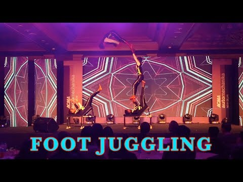 Foot Juggling Live Performance Act by Zenith Dance troupe Delhi ,Mumbai ,Hyderabad