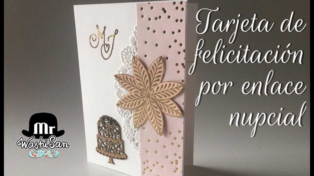 tarjeta de felicitaci243n por enlace nupcial boda o