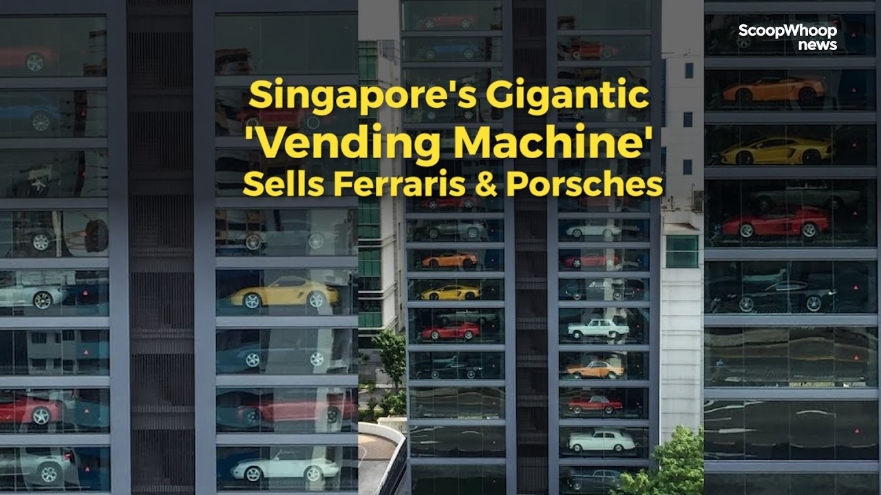 Gigantic Vending Machine In Singapore Sells Luxury Cars Youtube
