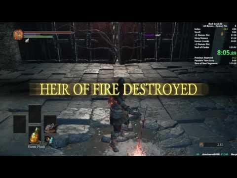 Dark Souls III Demon Fist All Bosses speedrun