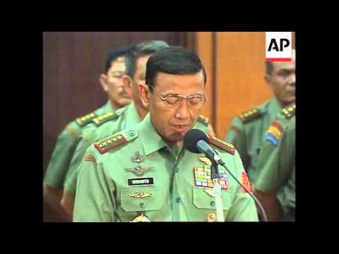 INDONESIA: LIEUTENANT GENERAL PRABOWO SUBIANTO IS DISMISSED
