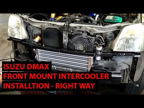 Installing an Intercooler on the 2005 Isuzu DMAX the CORRECT WAY