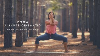 Yoga Cinematic feat. hand stand, plank, sun salutation a & king pigeon pose