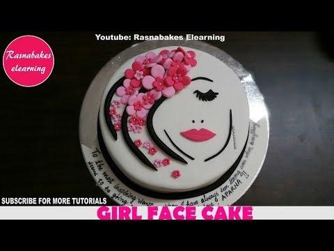 Birthday Cakes For Women Teenage Girls Ladies Beautiful Face Pink Flowers Design Ideas Decorating