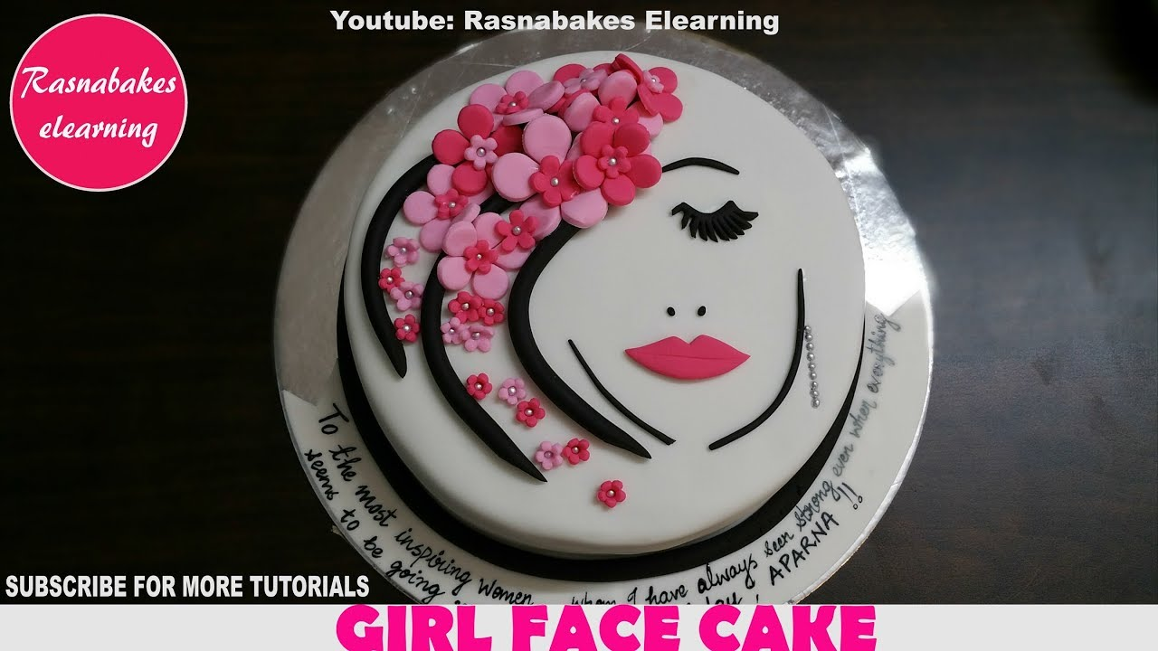 Birthday Cakes For Women Teenage Girls Ladies Beautiful Face Pink Flowers Design Ideas Decorating Youtube