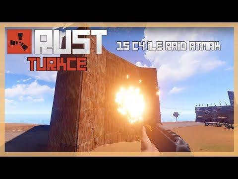 Rust Türkçe - 15C4 Harcadık 27 C4,22 Roket ve 200 Patlaycı Madde Aldık -  Bölüm #183