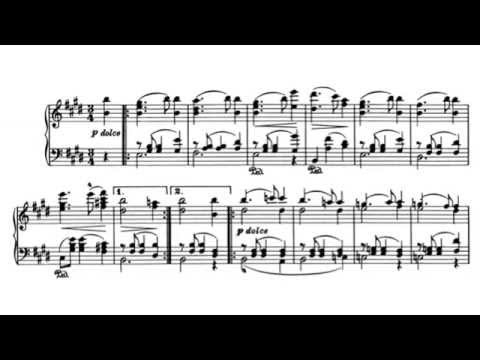 Johannes Brahms // Waltz in E Major, Op. 39 No. 2  [w/ score]