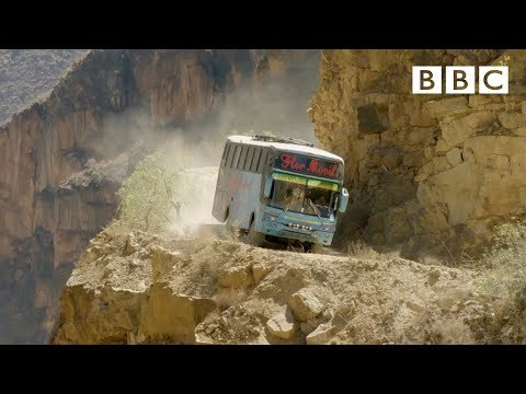 The world's most dangerous bus route 😱   Mountain: Life at the Extreme - BBC
